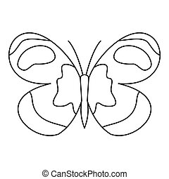Figured butterfly icon, outline style - Figured butterfly...