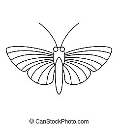 Hawk moth butterfly icon, outline style - Hawk moth...