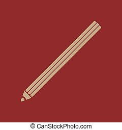 The pencil icon. Pencil symbol. Flat. - The pencil icon....