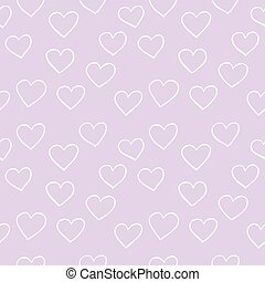 Heart background vector. Seamless, pattern. Hand drawn hearts and lines. For gift paper, web backgrounds, wrap paper, textile...