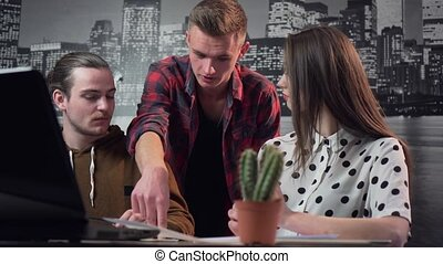 Teamwork and Decision Agreement - A studio shot of a...
