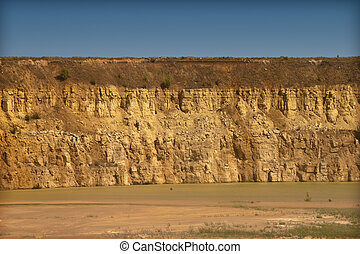 Quarry - part of the old quarry limestone