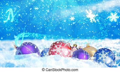 HD Loopable Background with nice christmas balls