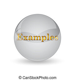 Examples icon. Internet button on white background.