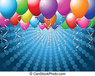 Balloon background - Holiday background with brightly...