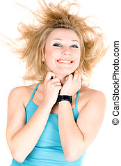 Portrait of cheerful young blond girl