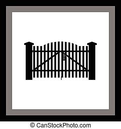 gate vector icon
