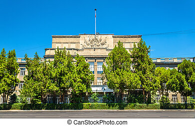 Administration building in the downtown of Bishkek -...