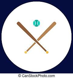 baseball computer symbol - baseball Simple vector button....