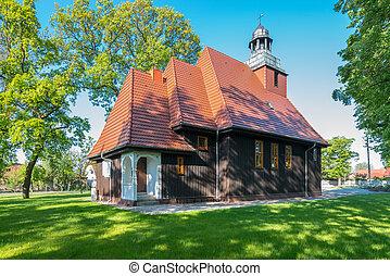 Norwegian wooden church in Krzesiny - Poznan; one of two...