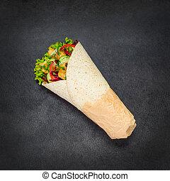 Shawarma Rolled Sandwich - Shawurma Rolled Sandwich with...