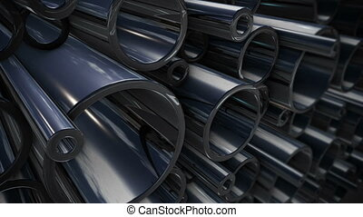 """stack of steel tubing"" - ""stack of steel tubing 3d..."