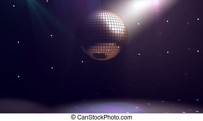 """Disco ball background"" - ""Animation of Disco ball..."