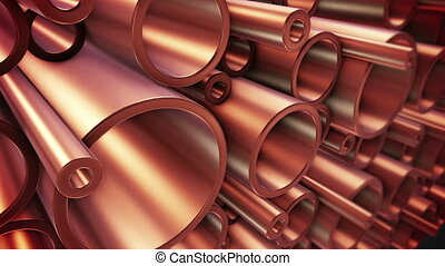"""Copper pipes"" - ""Heavy metallurgical industrial production..."