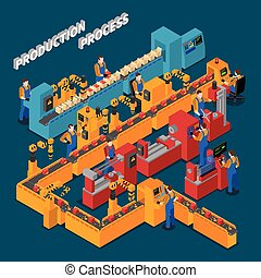 Factory Isometric Composition - Factory isometric...