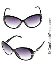 sun glasses set isolated over the white background - sun...