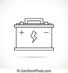 Car battery outline icon. Car repair service icon