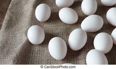 fresh raw white eggs