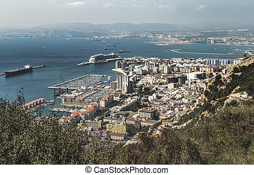 View from Gibraltar - Gibraltar from high viewpoint