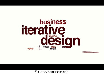 Iterative design animated word cloud.