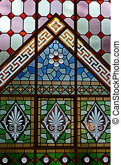 Stained glass windows - Beautiful and colorful stained glass...