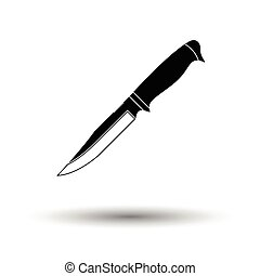 Knife icon. White background with shadow design. Vector...