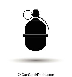 Attack grenade icon. White background with shadow design....