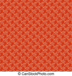 Red Chinese seamless pattern dragon fish scales simple seamless pattern Nature background with japanese wave circle pattern vector korean