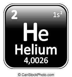 Periodic table element helium icon.