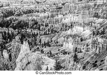 Hoodoos at Bryce Canyon - Bryce Canyon in Utah with its...