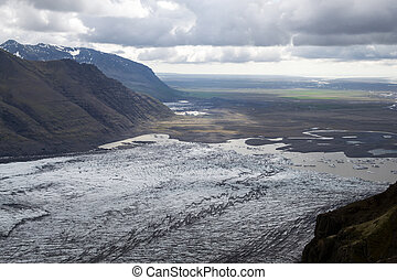 Skaftafellsjokull glacie one of the most impresive of...