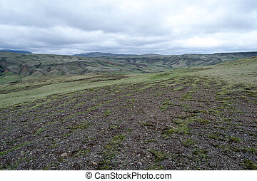 Tundra in Iceland - Tundra landscape in Iceland