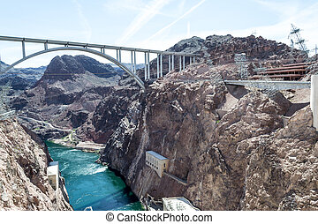 Hoover dam bypass bridge - Hoover dam is located in the...