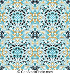 Abstract seamless ornamental vector tiles pattern for fabric
