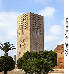 Hassan Tower Rabat - Hassan Tower in Rabat, capital of...
