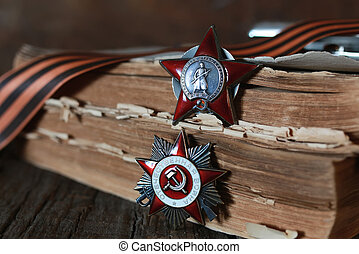 medals WWII composition - old military awards to...