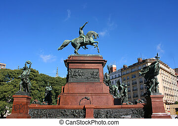 San Martin, Buenos Aires - Monument of General San Martin in...