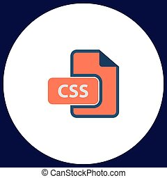 CSS computer symbol - CSS Simple vector button. Illustration...