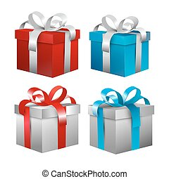 Vector Gift Boxes Set
