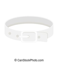 Pet collar icon in monochrome style isolated on white background. Cat symbol stock vector illustration.
