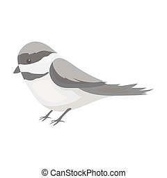 Parus icon in monochrome style on white background. Park...