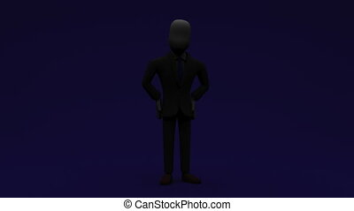 Businessman Who Introduce Information - 3DCG render...