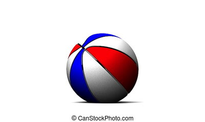 Bouncing Color BasketBall On White Background - Loop able...
