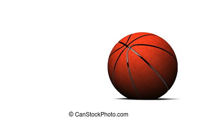 Bouncing BasketBall On White Background - Loop able 3DCG...