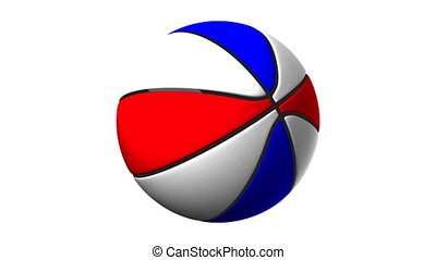 Color Basket Ball On White Background - Loop able 3DCG...