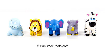 toy plastic animals in a zoo series