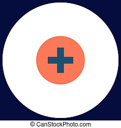 Medical cross computer symbol