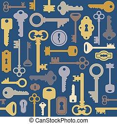 Seamless key pattern