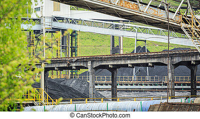 Mining infrastructure in Silesia, Poland - Mining...