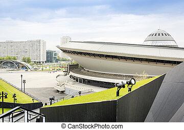 Entertainment hall called Spodek in Katowice, Poland